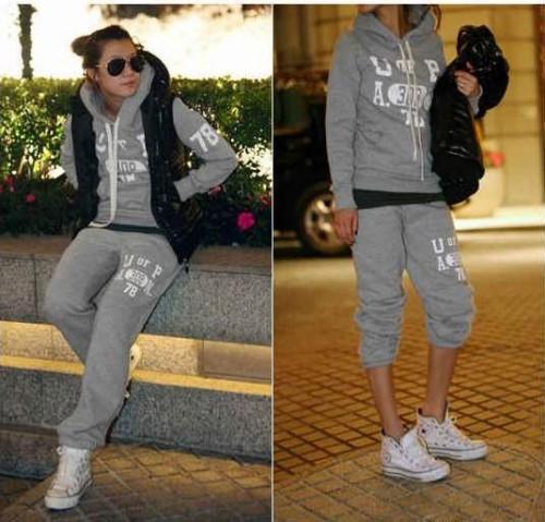 DD-18121#Спортивный костюм серый