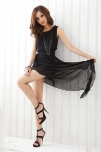 '.Легкое асимметричное платье .'