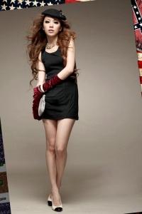 '.Черное мини-платье .'