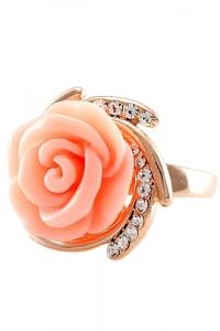 '.Кольцо Сердце розы .'