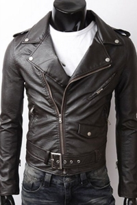 '.Кожаная мужская куртка .'