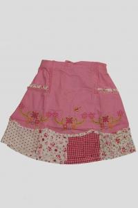 Юбка розовая с цветочным вышивным рисунком (4 года)