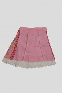 '.Юбка розовая с белой обороткой и вышивным рисунком (3 года) .'