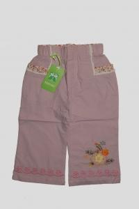 '.Брючки для девочки розовые с вязанным рисунком (3 года) .'