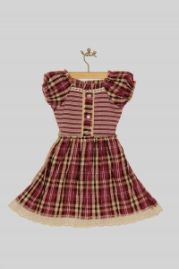 '.Платье для девочки в клетку (3-4 года) .'
