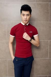 '.Красная мужская футболка .'