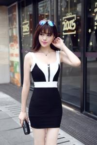 '.Короткое облегающее платье .'