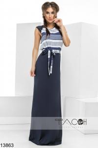 '.Платье с контрастными полосками .'